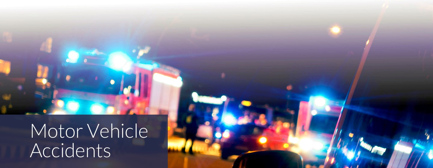 Motor Vehicle Accident legal Representation - Emergency vehicles at night
